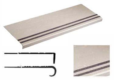 Rubber Stair Treads | Non Slip 2-Strip Abrasive