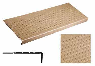 Rubber Stair Treads | Non Slip Low Profile Disc Medium Duty