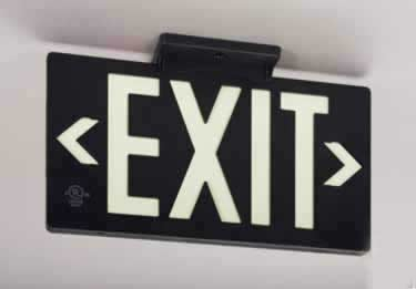 Photoluminescent Indoor/Outdoor Exit Signs-100ft. UL924