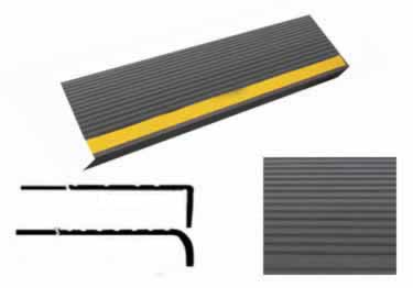 Rubber Stair Treads Safety Rib Non-Slip Strip by Roppe