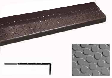 Roppe Rubber Stair Tread Low Profile Raised Circular
