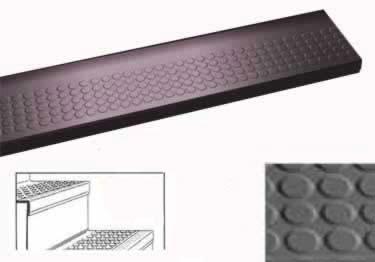 Roppe Stair Tread One-Piece Raised Circular Vantage Design