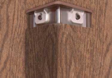 InPro® Corner Guards Aluminum Retainer Woodland