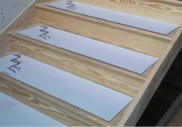 Temporary Stair Tread Protection Pads