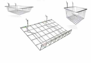 Pegboard Shelving and Baskets