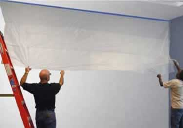 Rapid Wall Protection Film With Tape