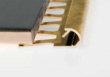 Schluter®-Rondec Wall Countertop Profile - Copper, Bronze, Brass