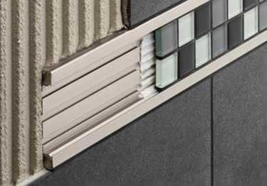 Schluter® QUADEC-FS Double Rail Strip Tile Edging - Aluminum