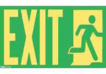 Exit Signs-NYC and California Code Rated