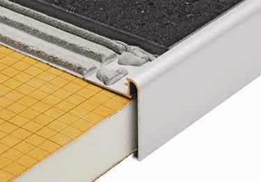 Schluter®-RONDEC STEP Stairs and Countertop Profile - Aluminum
