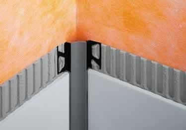 Schluter® DILEX-HKW | Curved Profile, Corners, and End Cap