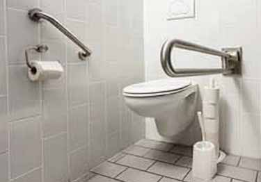 Grab Bars   Stainless Steel Angled and Folding