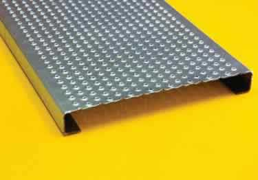 Metal Safety Stair Treads Traction Tread™ | Perforated Buttons