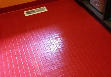Roppe Raised Square Rubber Flooring