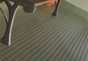 Roppe Raised Circular Vantage Rubber Flooring