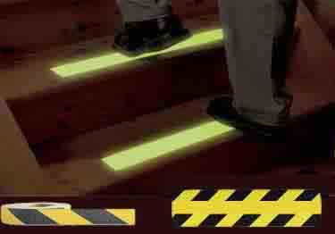 Non Slip Tape Safety and Glow-In-The-Dark