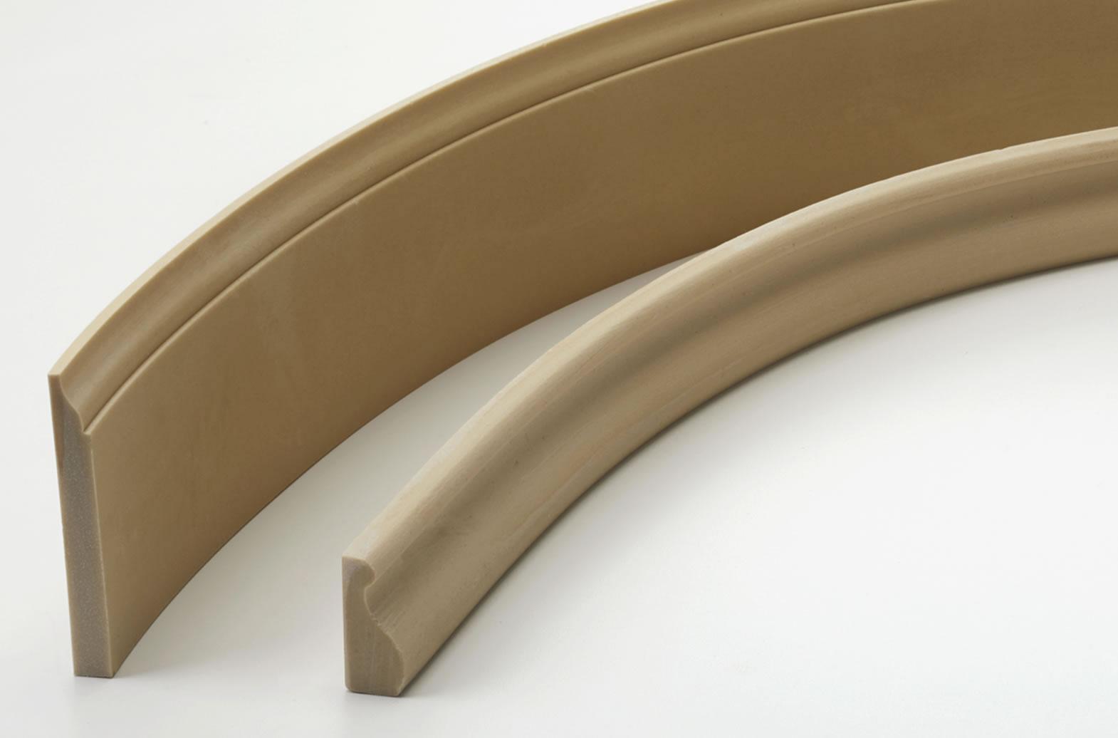 Flexible, Paintable Wood Grain Wall Base