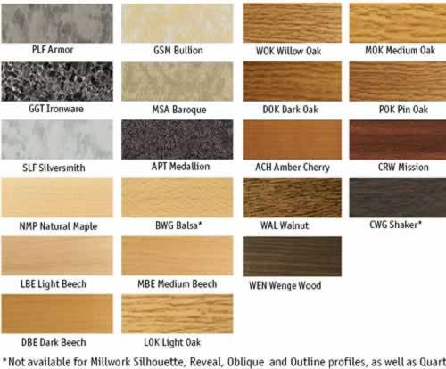 Zamma Color Chart