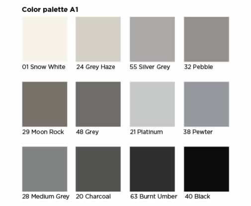 Free Shipping Available IN 40 COLORS 6 Tube Pack Charcoal Metal Panel Caulk