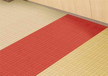 Roppe Raised Square Rubber Flooring large image 1