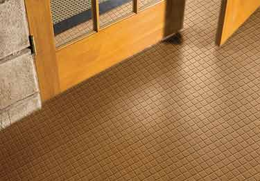 Roppe Raised Square Rubber Flooring large image 2