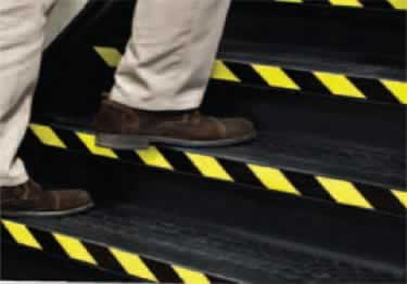 Floor Marking Tape - Safety Hazard Black Yellow large image 5