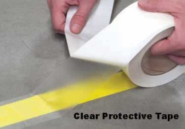 Floor Marking Tape - Safety Hazard Black Yellow large image 7