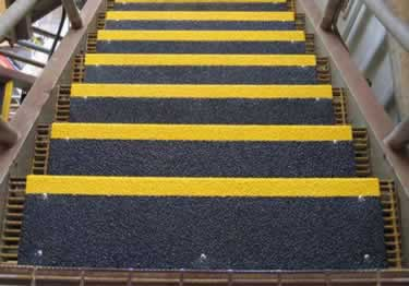 Anti Slip Stair Treads and Nosing | Fiberglass large image 1