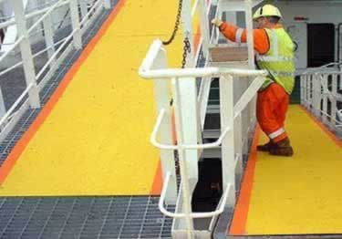 Anti Slip Stair Treads and Nosing | Fiberglass large image 2