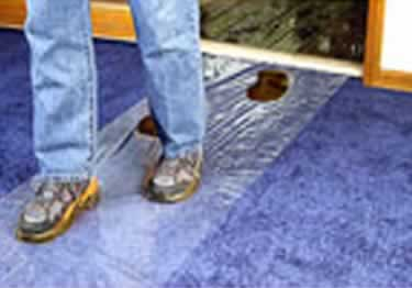 Carpet Film Plastic Protection large image 1