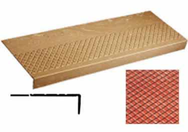 Rubber Stair Treads | Non Slip Diamond Design, Long Nose large image 5