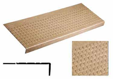Rubber Stair Tread-Non Slip Low Profile Disc Med. Duty