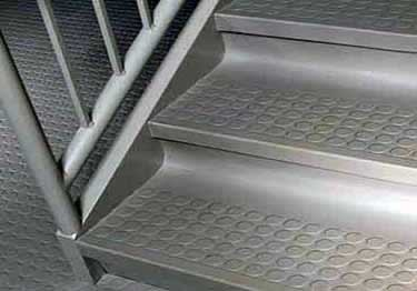 Rubber Stair Treads | Non Slip Low Profile Disc Medium Duty large image 7