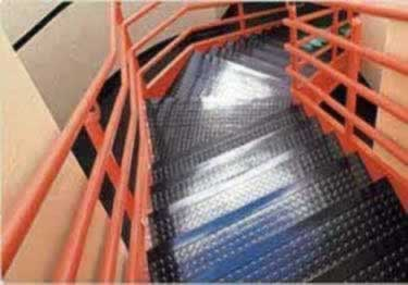 Rubber Stair Treads | Non Slip Low Profile Disc Medium Duty  large image 9