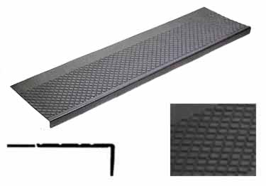 Outdoor Rubber Stair Tread for Exterior Installations