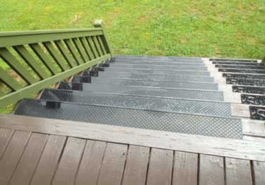 ... Rubber Stair Treads | Non Slip Outdoor Use Large Image 6 ...