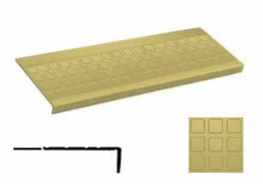 Roppe Rubber Stair Treads | Non Slip Square Design