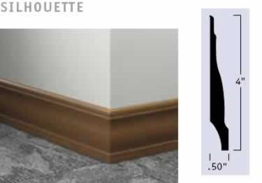 Johnsonite Wall Base Molding | Millwork Rubber Wood Grain large image 7