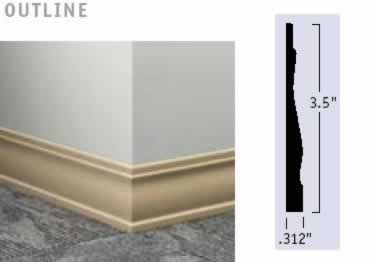 Johnsonite Wall Base Molding | Millwork Rubber Wood Grain large image 8