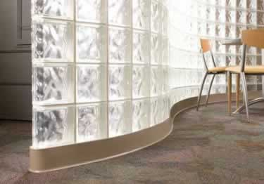 "Clean finish around the perimeter of your room. <b>Commercial grade 1/8"" vinyl.</b> 120 ft rolls&4 ft. strips box/30."