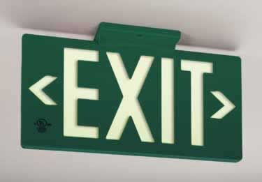 Photoluminescent Indoor/Outdoor Exit Signs-100ft. UL924 large image 1
