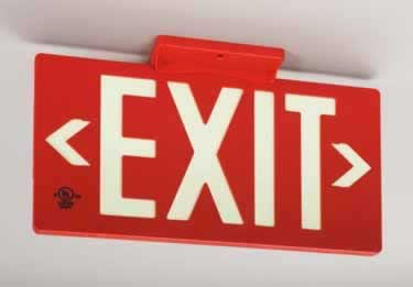 Photoluminescent Indoor/Outdoor Exit Signs-100ft. UL924 large image 2