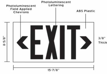 Photoluminescent Indoor/Outdoor Exit Signs-100ft. UL924 large image 6
