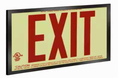 Photoluminescent Exit Signs-50ft. Economy UL924