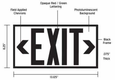 Photoluminescent Exit Signs-50ft. Economy UL924 large image 6