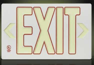 Exit Signs | 50ft Visual UL Approved large image 4