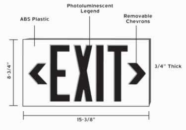 Exit Signs | 50ft Visual UL Approved large image 6