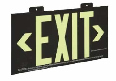 Photoluminescent Exit Signs Metal-50ft. UL Approved large image 1