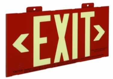 Photoluminescent Exit Signs Metal-50ft. UL Approved large image 2