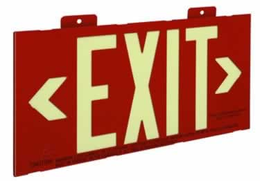 Photoluminescent Exit Signs Metal-50ft. UL Approved large image 3